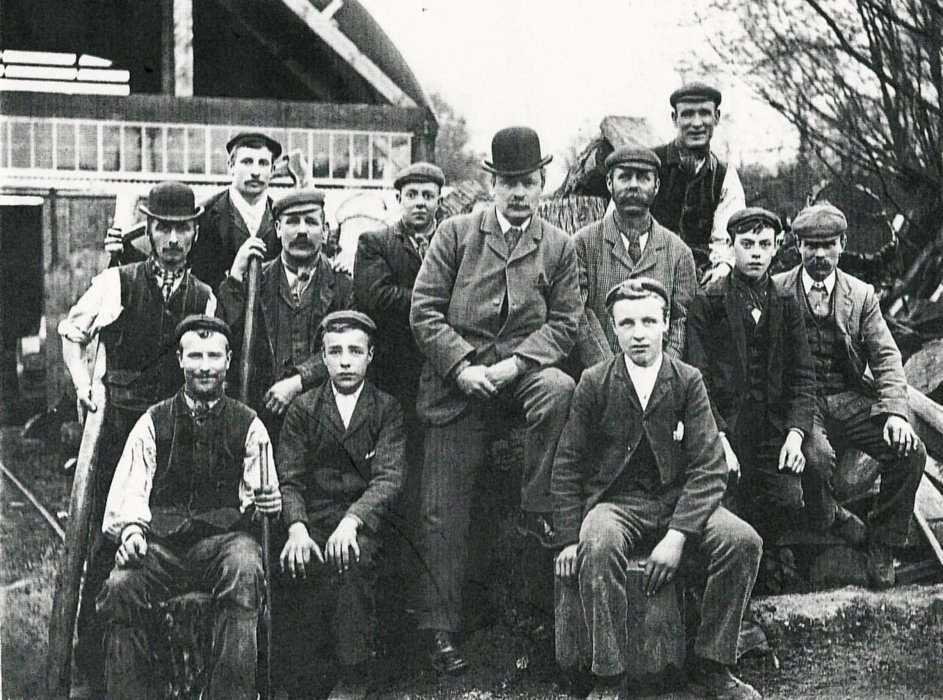 1903. William Avery and employees