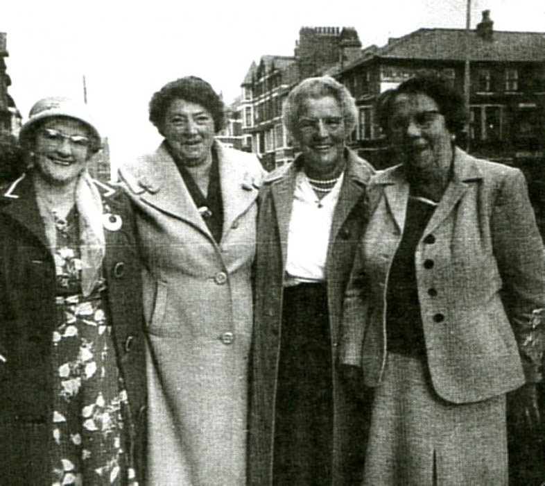 L-R - ??, Mrs. Ivy Pratt, Mrs. Shorter, Mrs. Surman