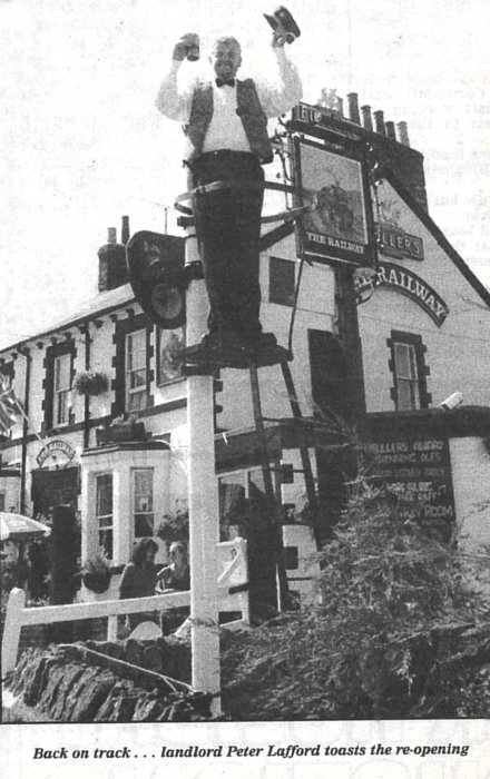 The re-opening of the Railway Hotel in 1995
