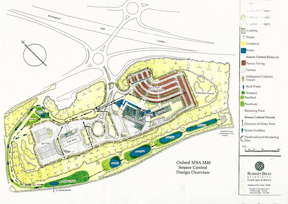 Ground plans, M40 Wheatley services