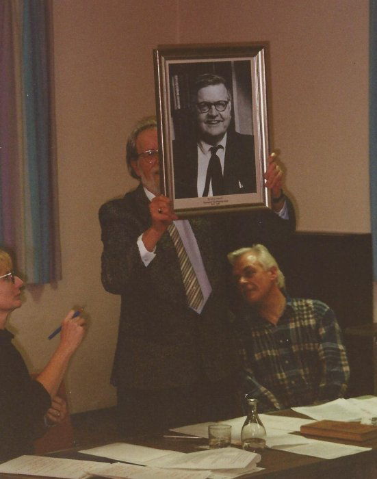 The framed photo of Dr W. Hassall