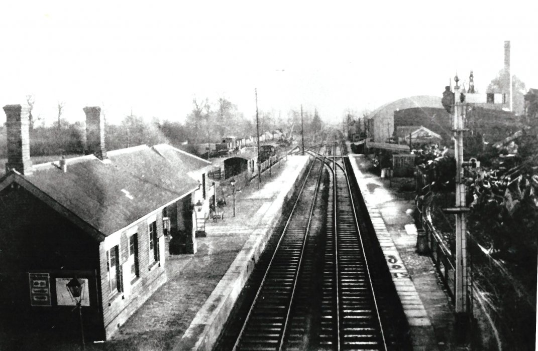 Wheatley station c. 1925 from Ladder Hill bridge