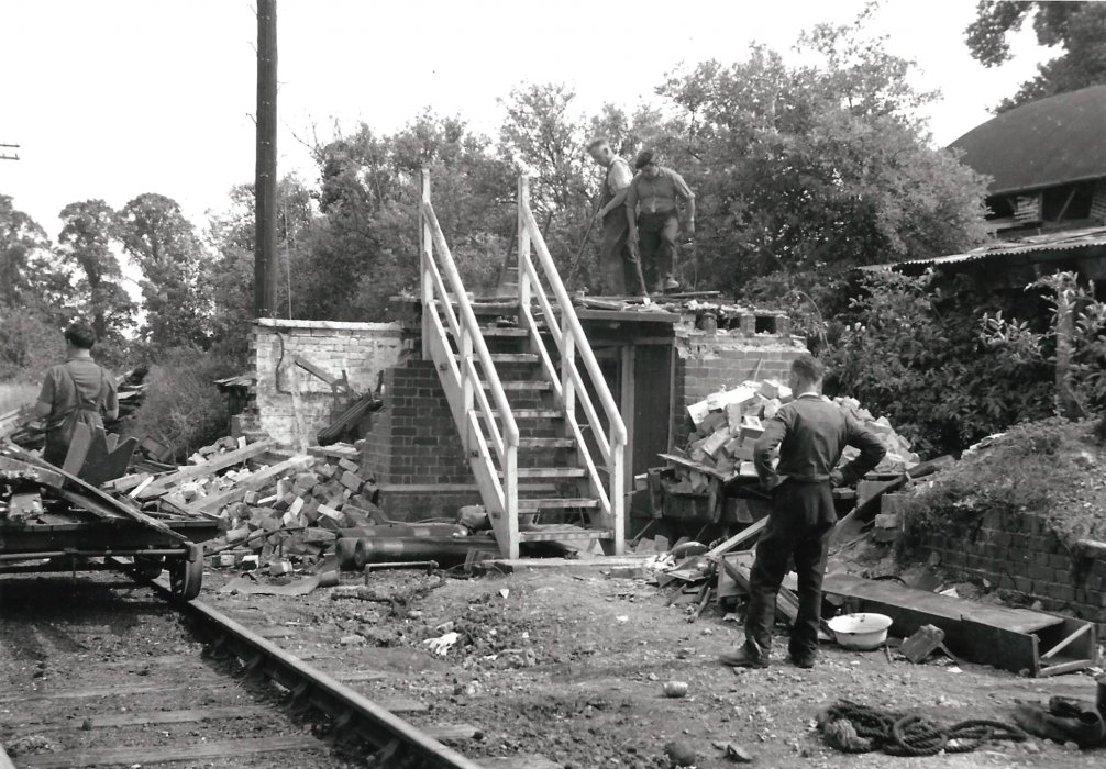 The signal box is removed in July/August 1969