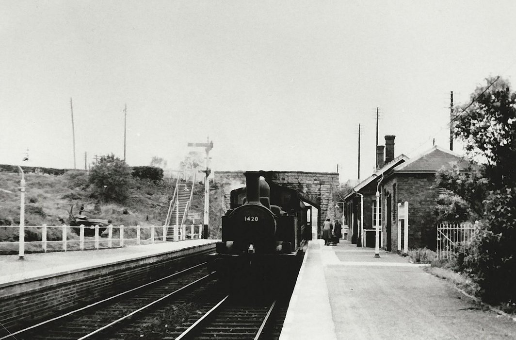Wheatley station with a train.