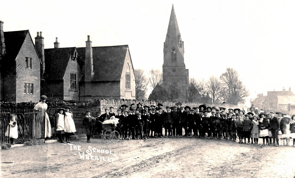 Date not know. Group of school children in Church Road