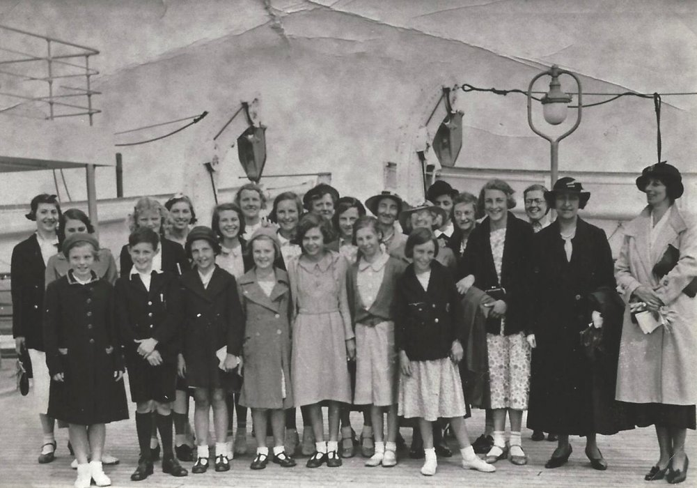 A Trip to visit 'The Bremen' 1938