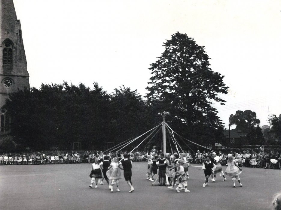 Maypole Dancing Display July 1958