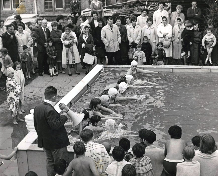 The swimming pool in 1966