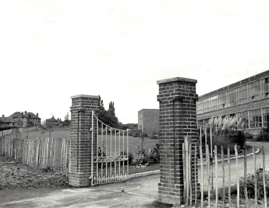 Secondary School gates in 1952