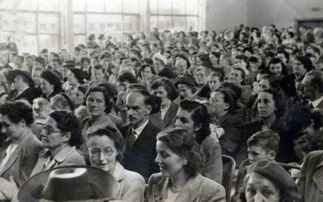 Parents attend the opening