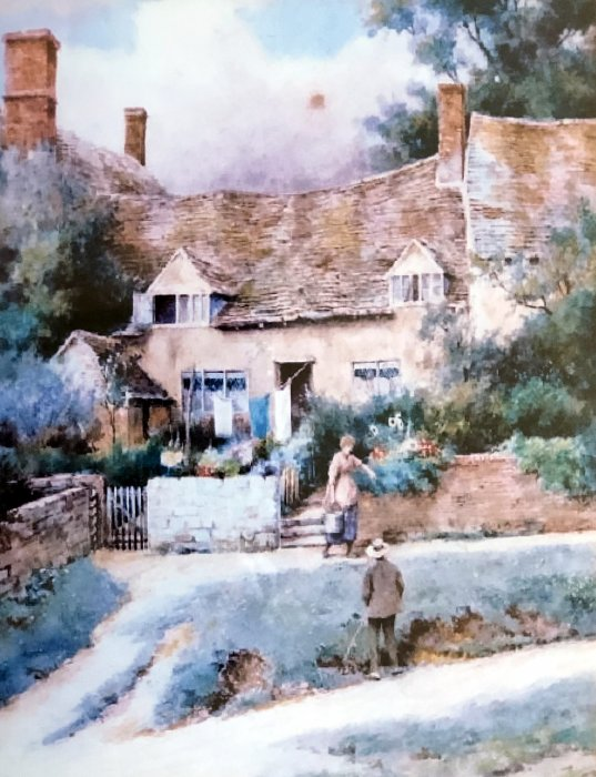 Cottages in Wheatley by T.N.Tyndale