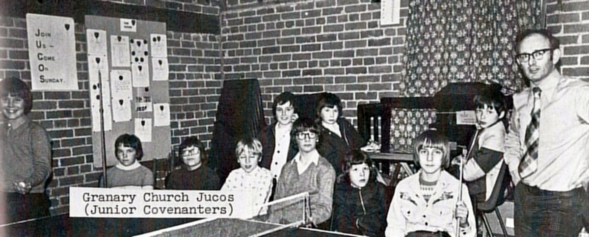 1977. The Junior Covenanters of the Granary church as shown in the Jubilee booklet