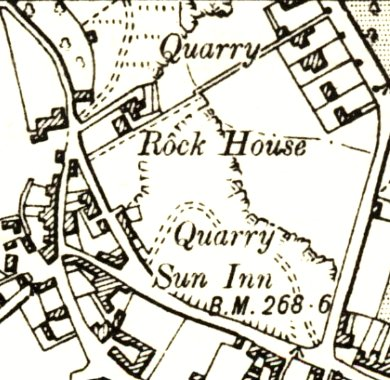 Extract from OS map of 1890s
