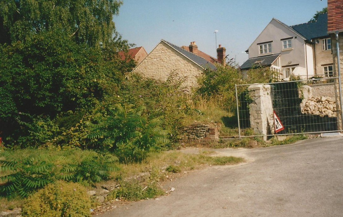 2003. Area behind the old White Hart and also the new development of 68 Church Road