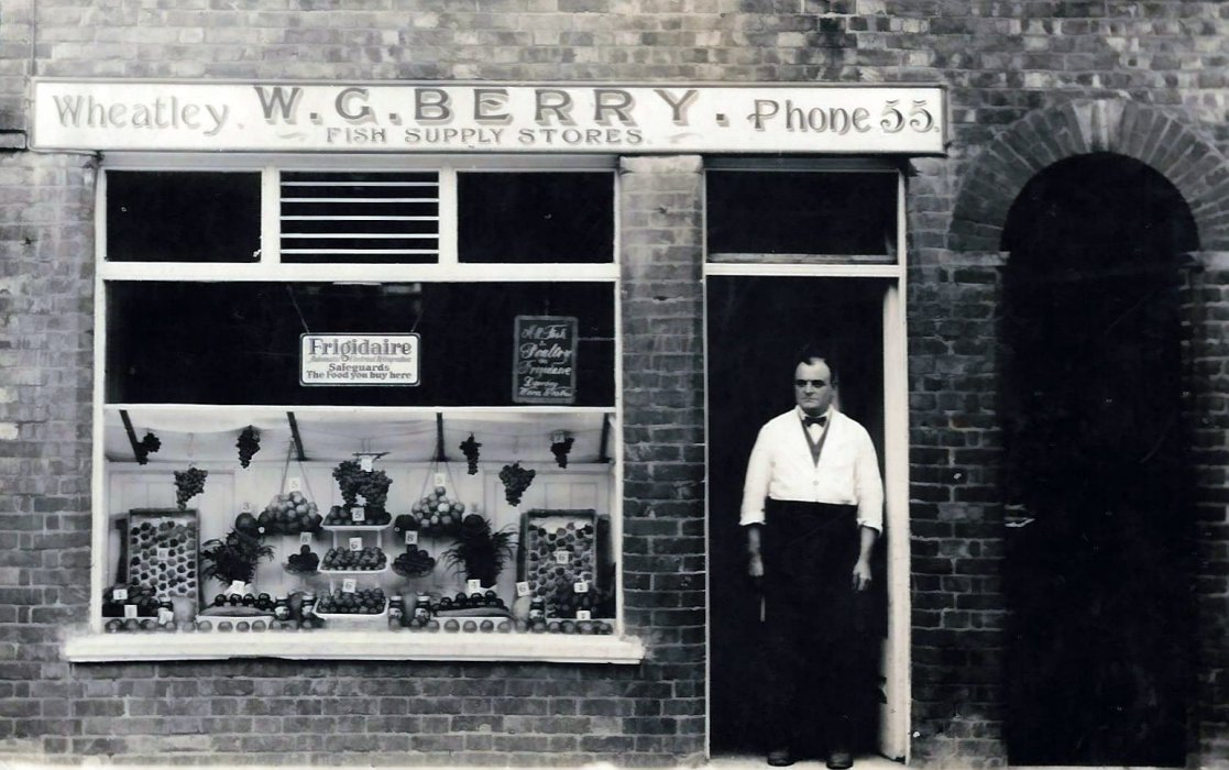 Bill 'Boss' Berry outside his shop