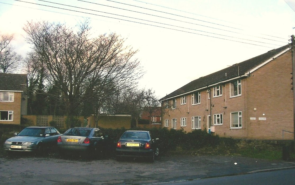 The replacement block of flats from the 1960s