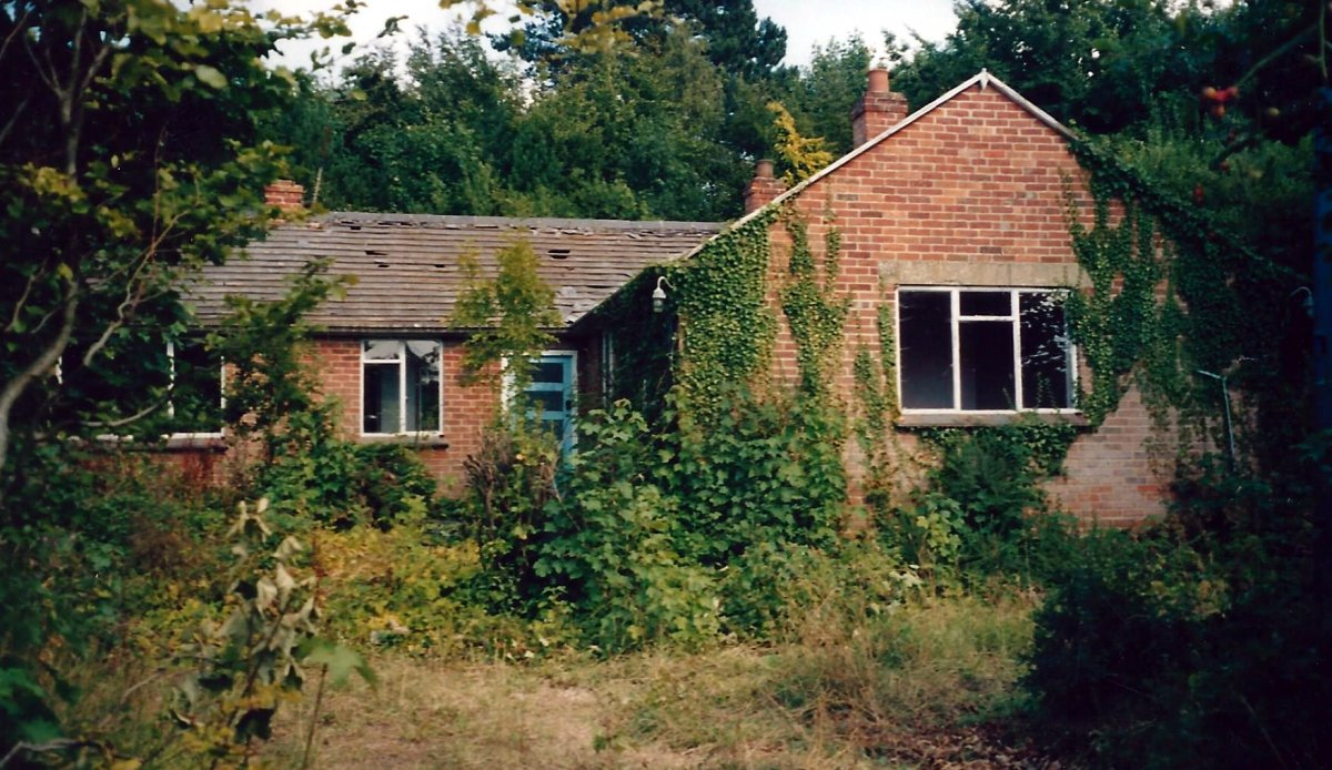 The bungalow awaiting demolition in 2003