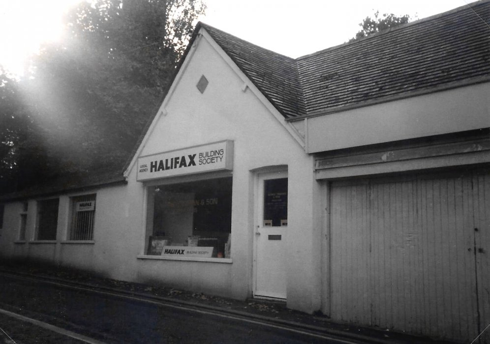 Truman's solicitors at 4 Station Road in 1986, trading under the banner of the Halifax