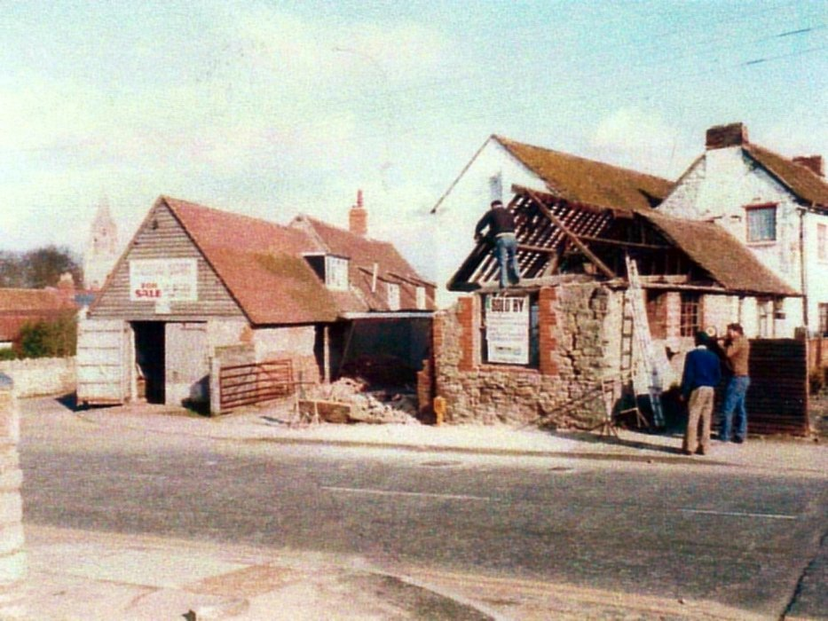 Part of the old forge in Cullums yard was demolished
