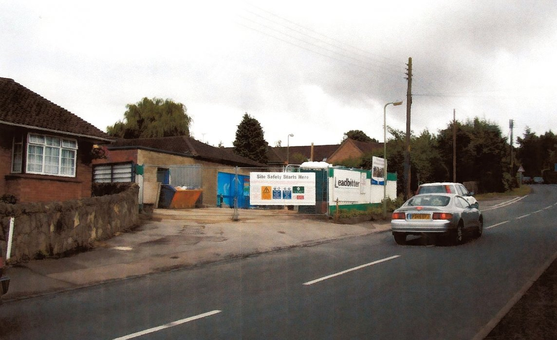 2005. Work on the new Co-op store.