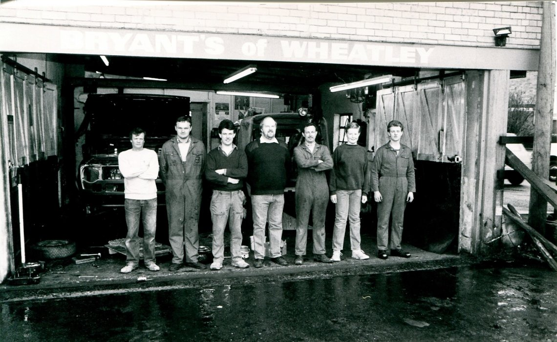 1988. Staff at Bryants Garage in Station Road as shown in the Centenary booklet