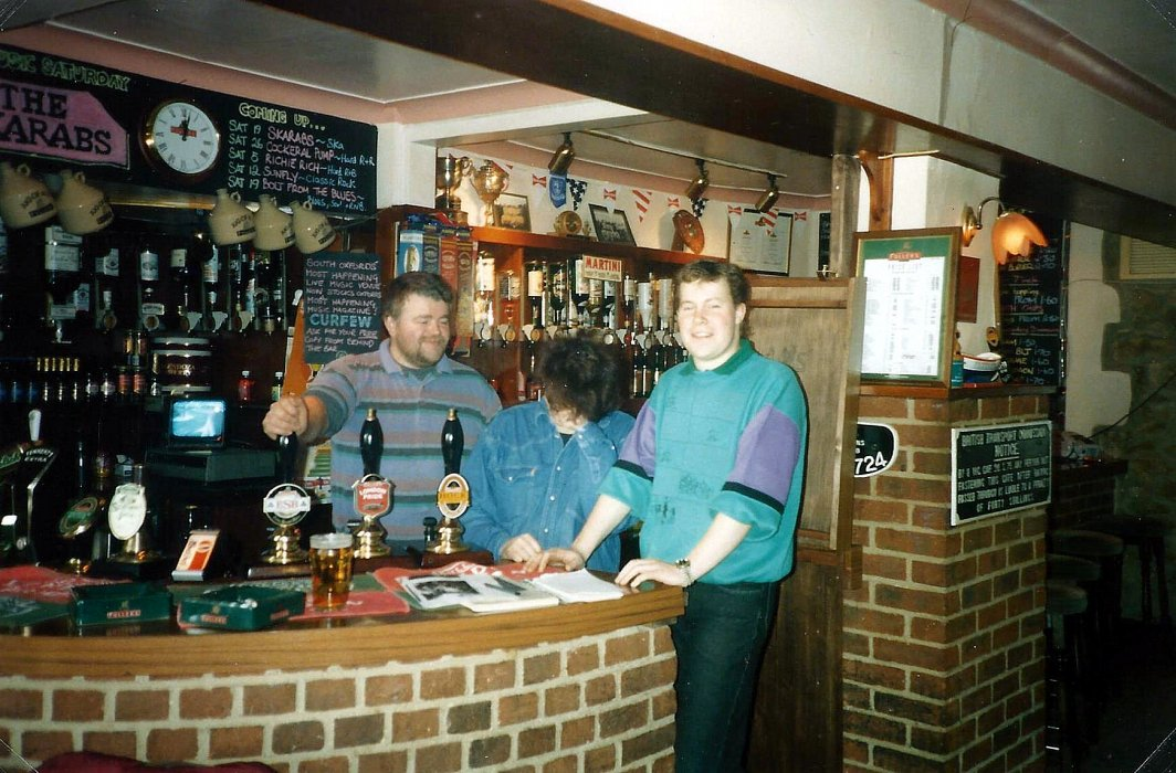 Staff at the Railway Hotel in 1995.