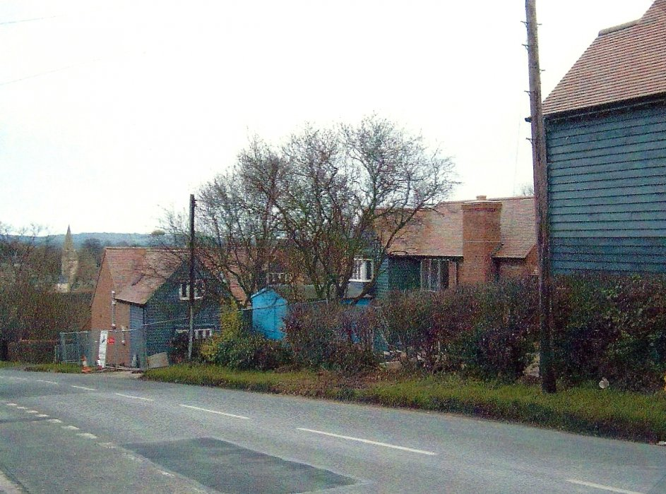 Three new houses, Nos 25, 27 and 29 Ladder Hill, built on the site of the station master's house
