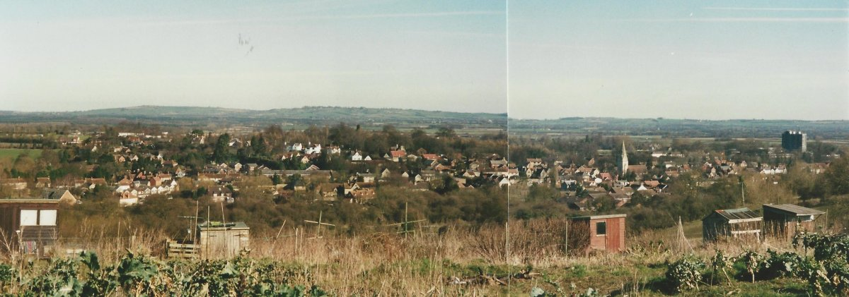 1998 panoramic view from Howe allotments