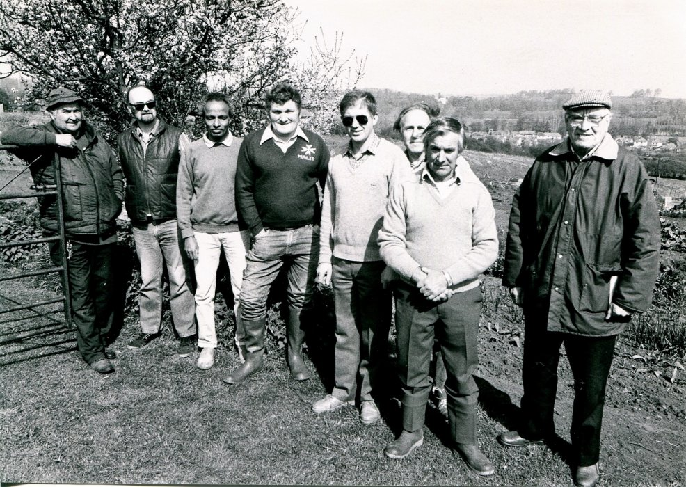 Probably allotment holders of the Howe Trust Allotment Association in 1988 as shown in the Centenary booklet