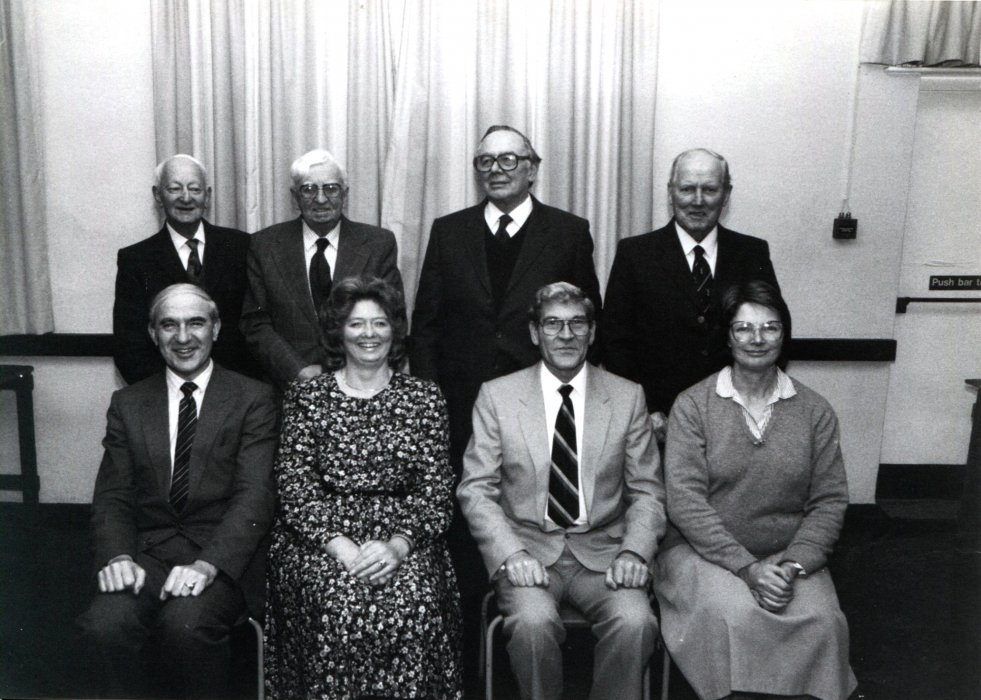 1988. Wheatley Allotment Committee as shown in the Centenary booklet