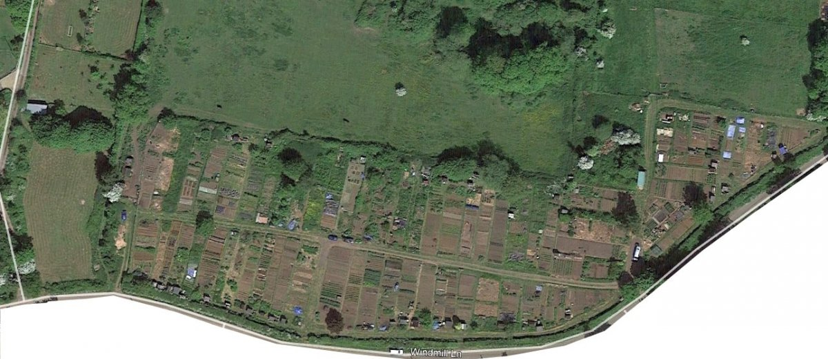 Allotments in 2018 from Google Earth