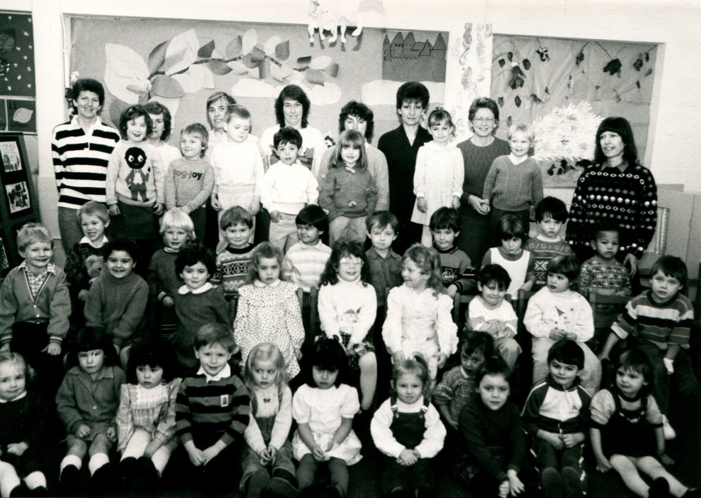 1988. Wheatley Playgroup at the Primary School as shown in the Centenary booklet