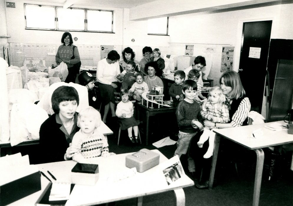 1988. Wheatley Mothers and Toddlers Group at the Primary School as shown in the Centenary booklet