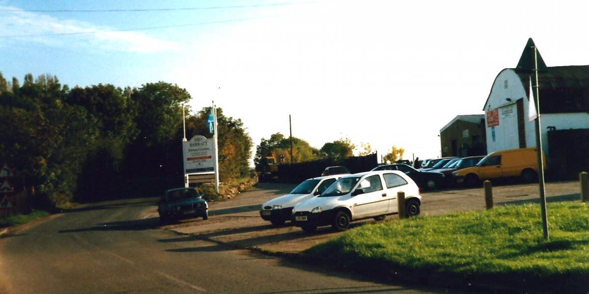 Photo of the road past Powells Engineering works in 1988