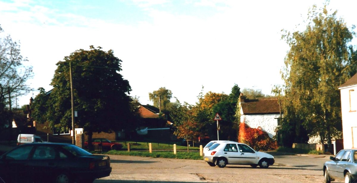 From the road access to the engineering works, showing house numbers 4 Littleworth and 14 Littleworth