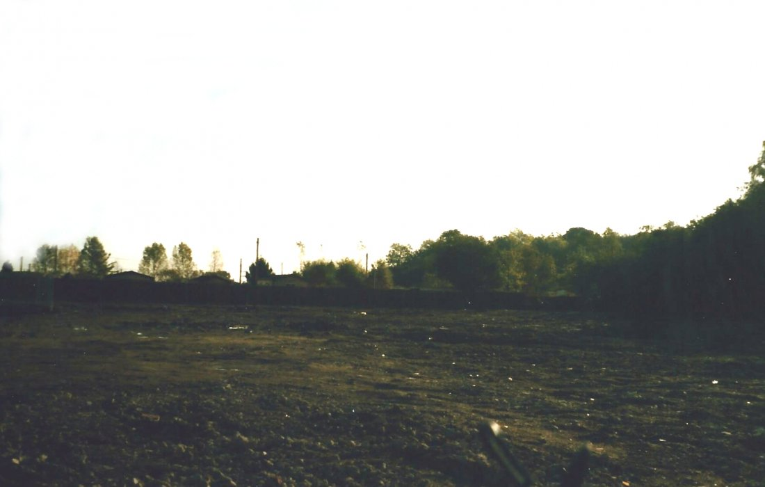 1998, photo of the old industrial site cleared, now Coopers Close