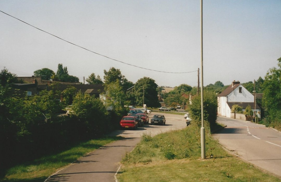 Looking toward Littleworth with No. 4 Littleworth on the right