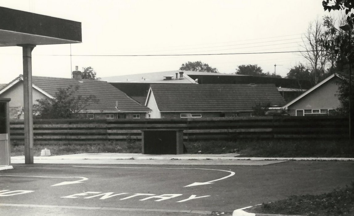 1979. Petrol station and bungalows