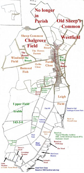 Field name map showing Leigh Field