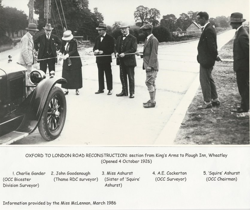 Oxford to London Road Reconstruction opening in October 1926