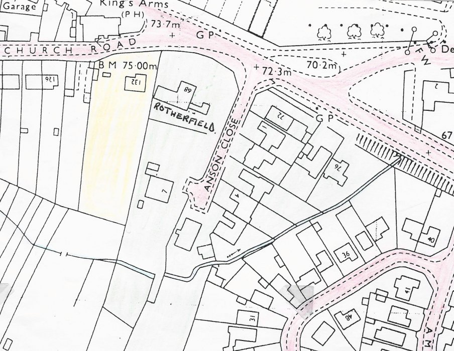 Map showing Rotherfield, 68 London Road