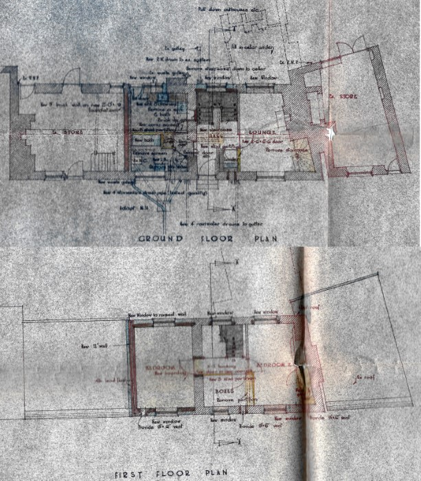 Plans for improvements of Mulberry Cottage in 1953
