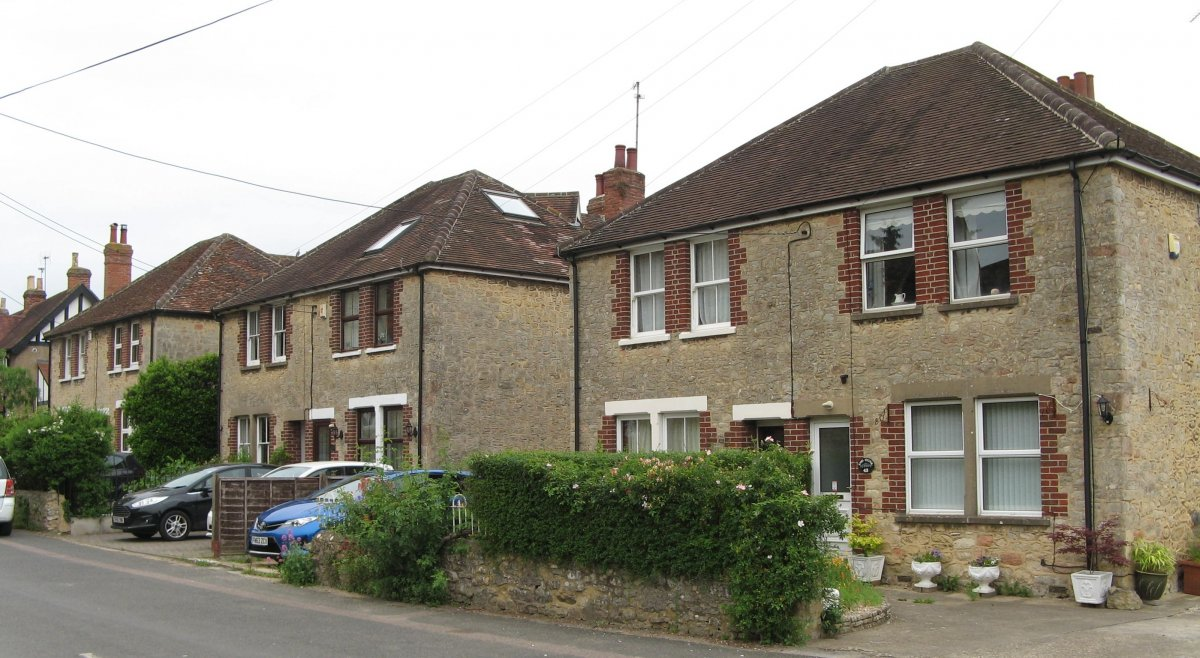2018. 33-43 Crown Road. The three other pairs of semi-detached houses built by Shepherd for his sons