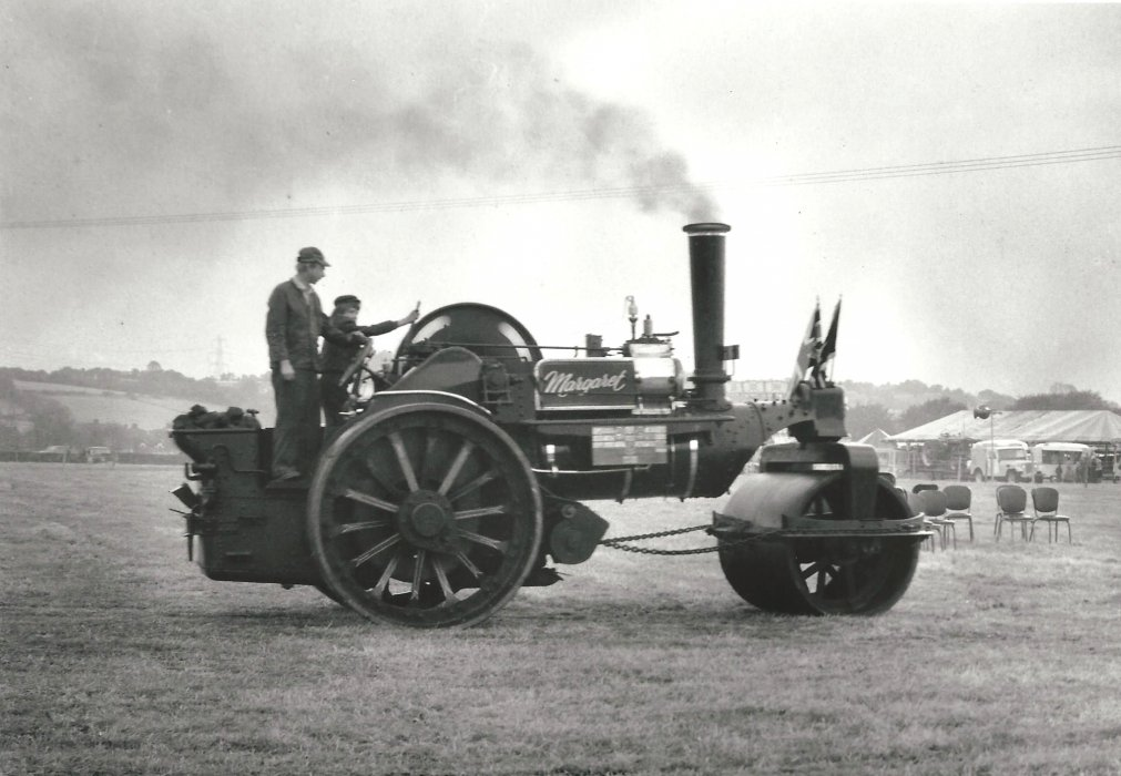 Photograph of a steam roller called Margaret - taken at the Steam Fair in Holton, in the late 1970's