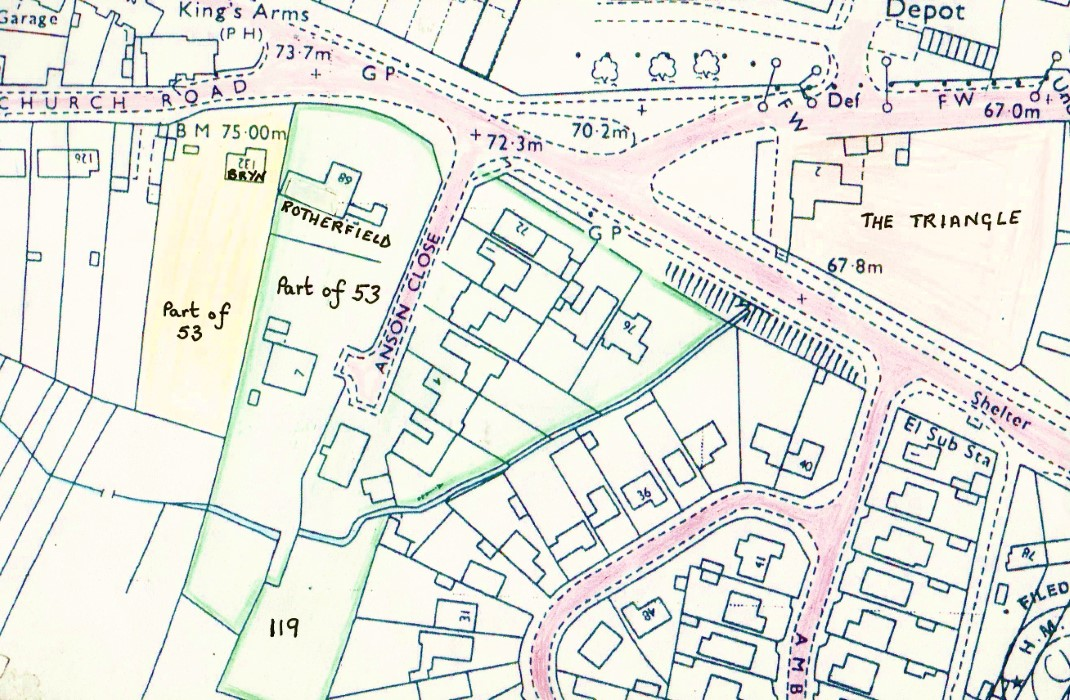 Map of Anson Close