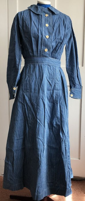 Blue and white striped dress(circa 1920)
