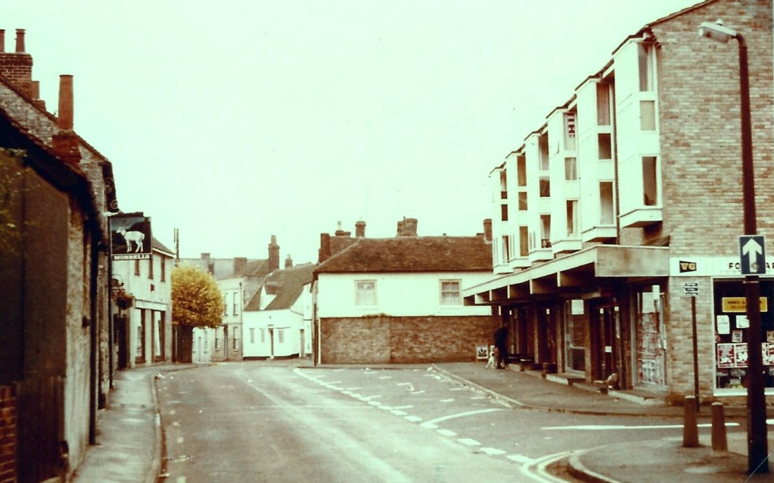 c. 1970 High Street view with the shops built 1967