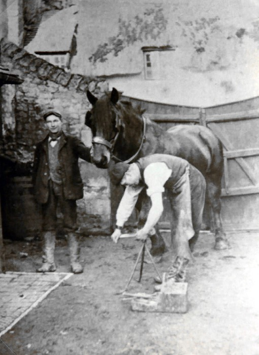 Walter Brazell, blacksmith at Cromwell House