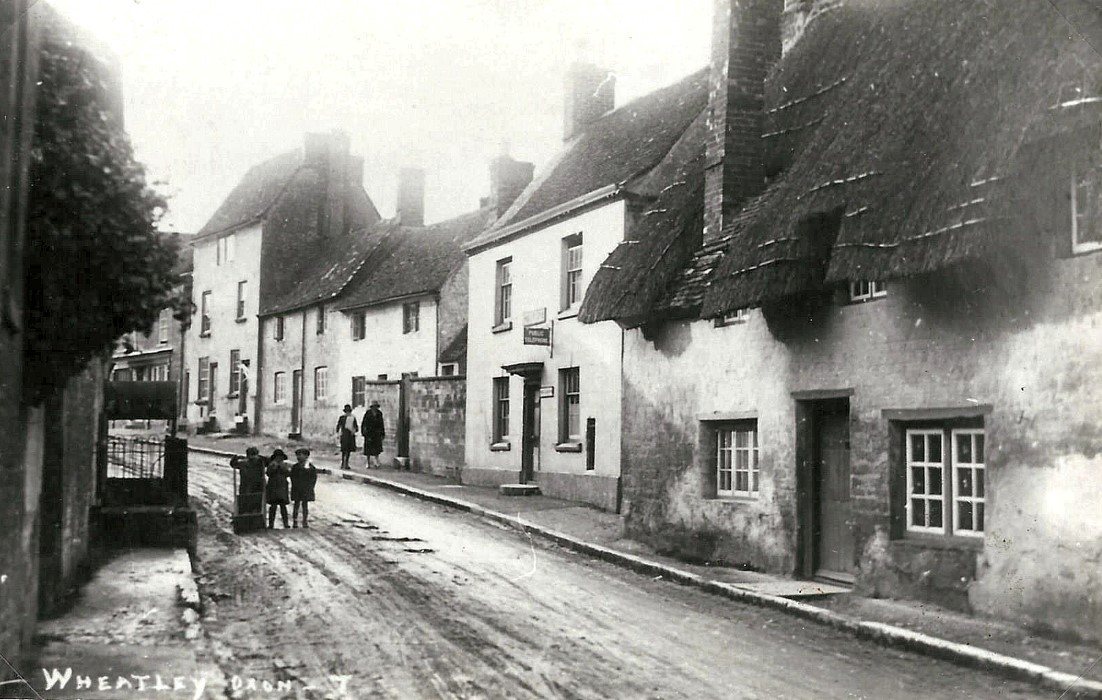 1927, part of the set of postcards. Looking up High Street from 107 (Old Post Office, 105 (Newholme) set back from the road), 103 (Sheppey Cottage), 101 (All Souls Cottage) no longer so-called, and 99 High Street
