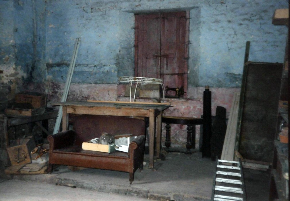 The inside of the original boys school-room as seen in 1992. The girls were taught in the main house.